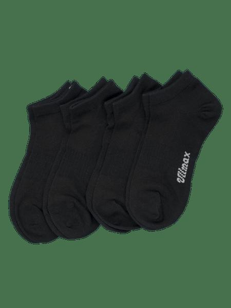 Coolmax Sock Ankle 4-p Svart