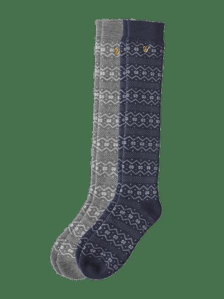 Wool Sock High 2-p Blå/grå