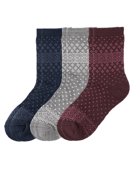 Wool Mix Socks 3-p Blå/Grå/Röd