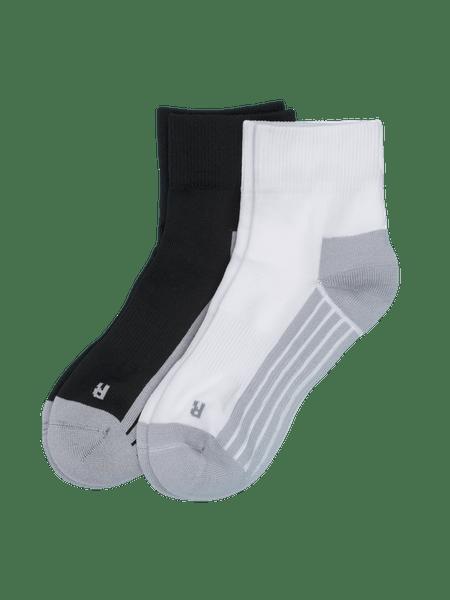 Active Socks 2-p Svart/Vit
