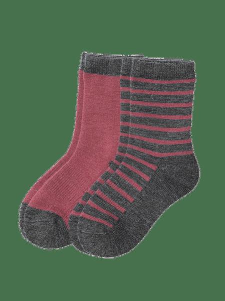 Wool Sock Kids 2-p Rosa