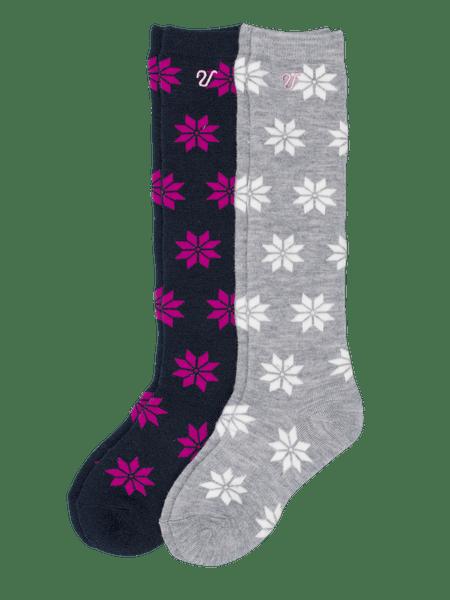 Winter High Socks Kids 2-p  Grå/Blå
