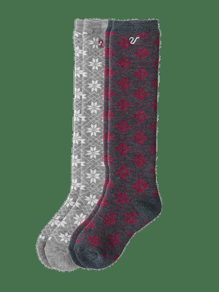 Winter High Sock Kids 2-p Grå/Rosa