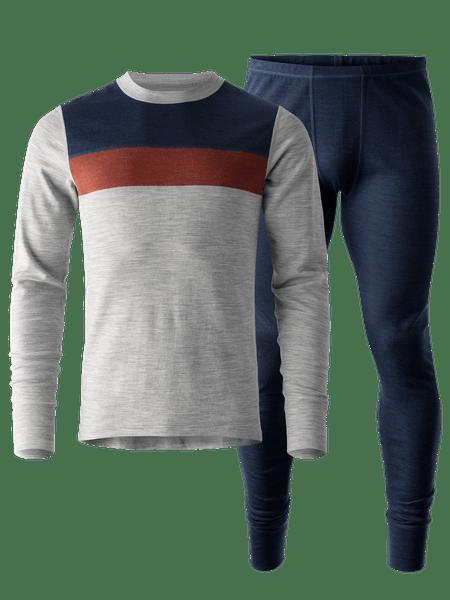 Merino Super Soft Set Men Grå/Blå