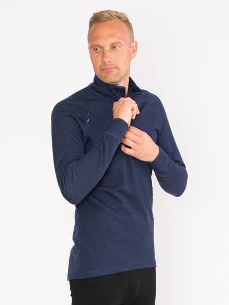 Merino Super Soft ½ Zip Men Mörkblå