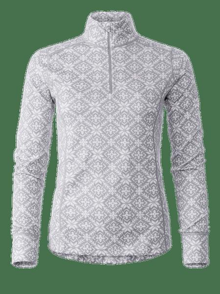 Wool Star ½ Zip Women Grå