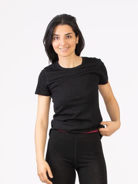 Merino Fine T-shirt Women Svart
