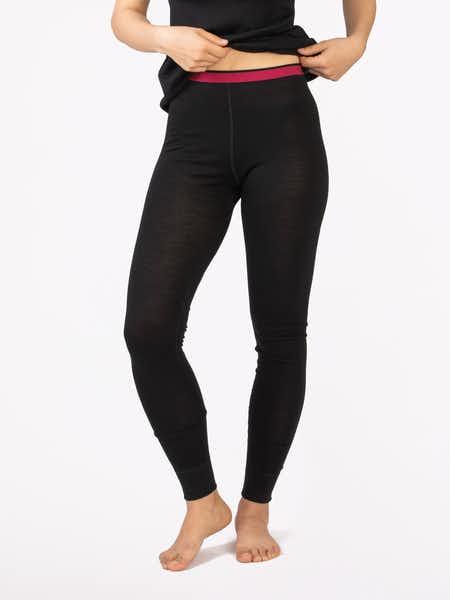 Merino Fine Pants Women Musta