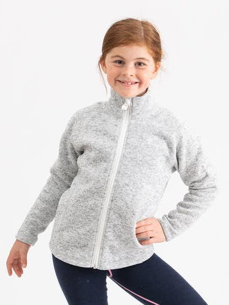 Knitted Fleece Kids Gråmelange