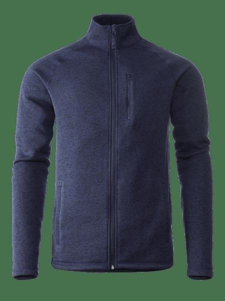 Knitted Fleece Men Blåmelange