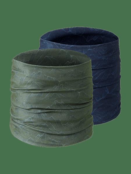 Multi Headwear 2-p Grön/Blå