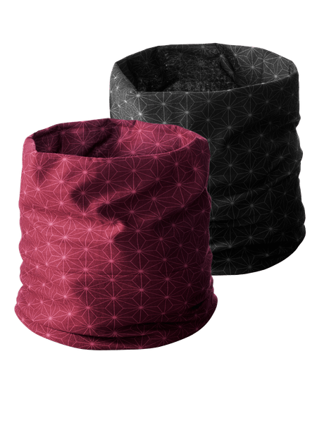 Multi Headwear Star 2-p  Vinröd/Svart