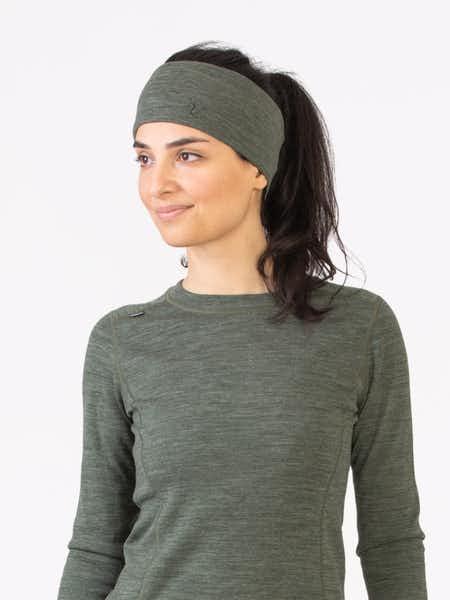 Merino Wool Headband Grön