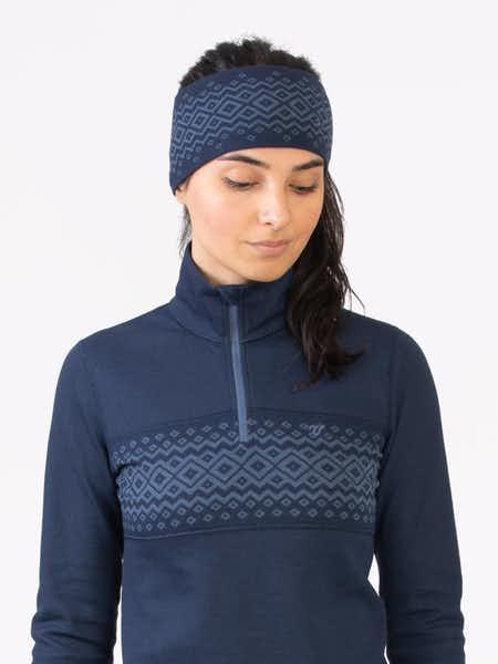 Merino Wool Headband Blå