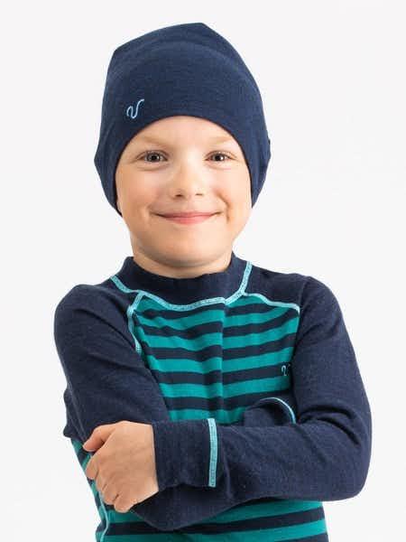 Merino Light Hat Kids  Blå