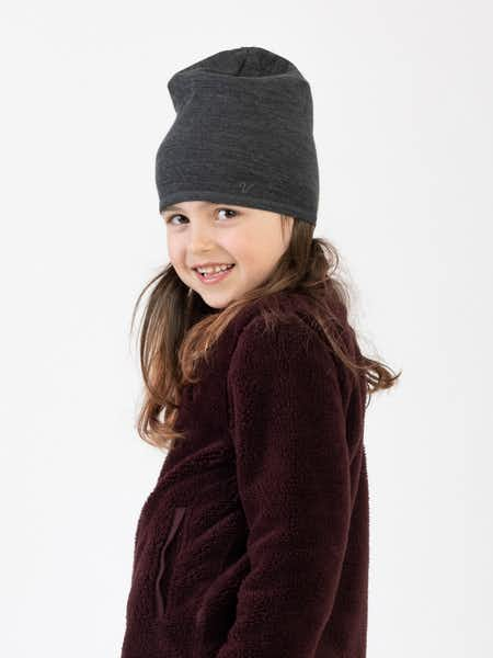 Merino Light Hat Kids  Gråmelange
