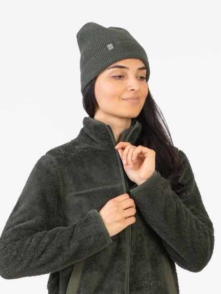 Wool Rib Unisex Hat Grön