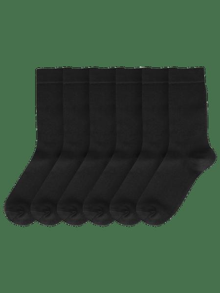 Basic Socks 6-p Svart