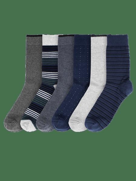 Classic Socks 6-p Blå mix
