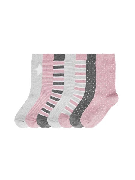 Kids Sock Pink 7-p Rosa mix