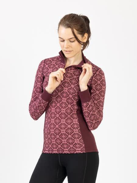 Wool Star ½ Zip Vinröd