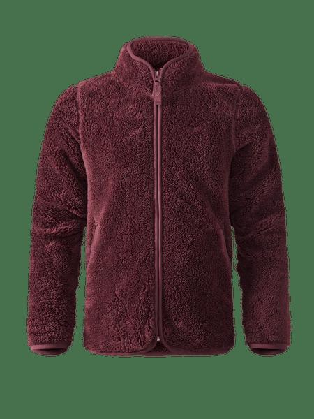 Classic Pile Jacket Kids Vinröd